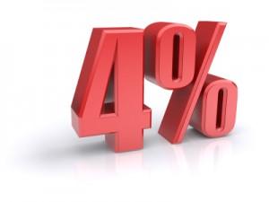 4 percent sign